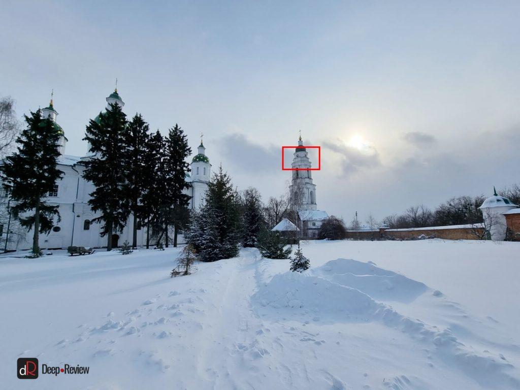 Снимок на ультраширокоугольную камеру
