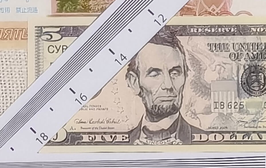 доллар с закрытыми глазами