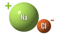 химический вид хлорида натрия (соль)
