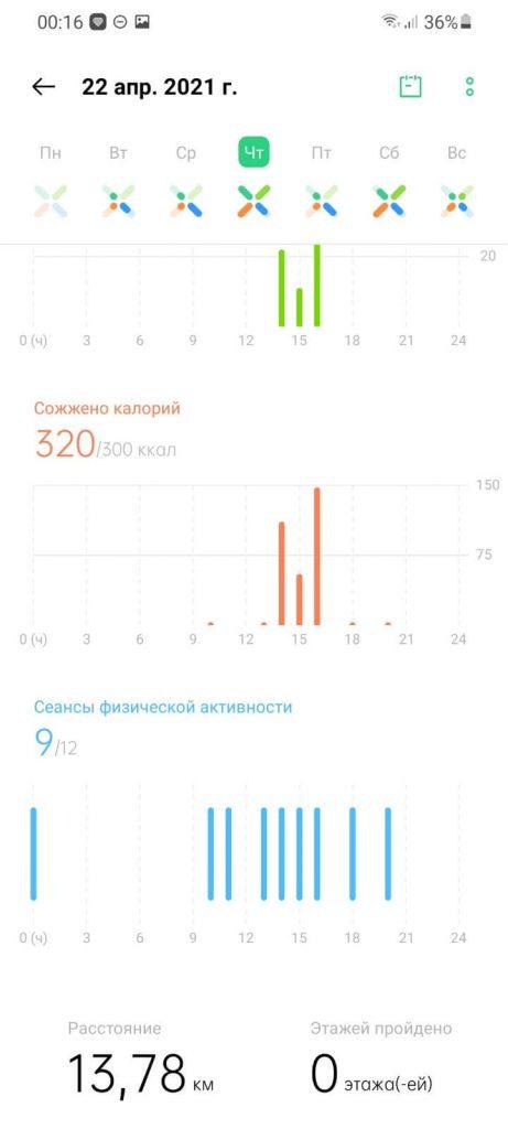 ежедневная активность в heytap health