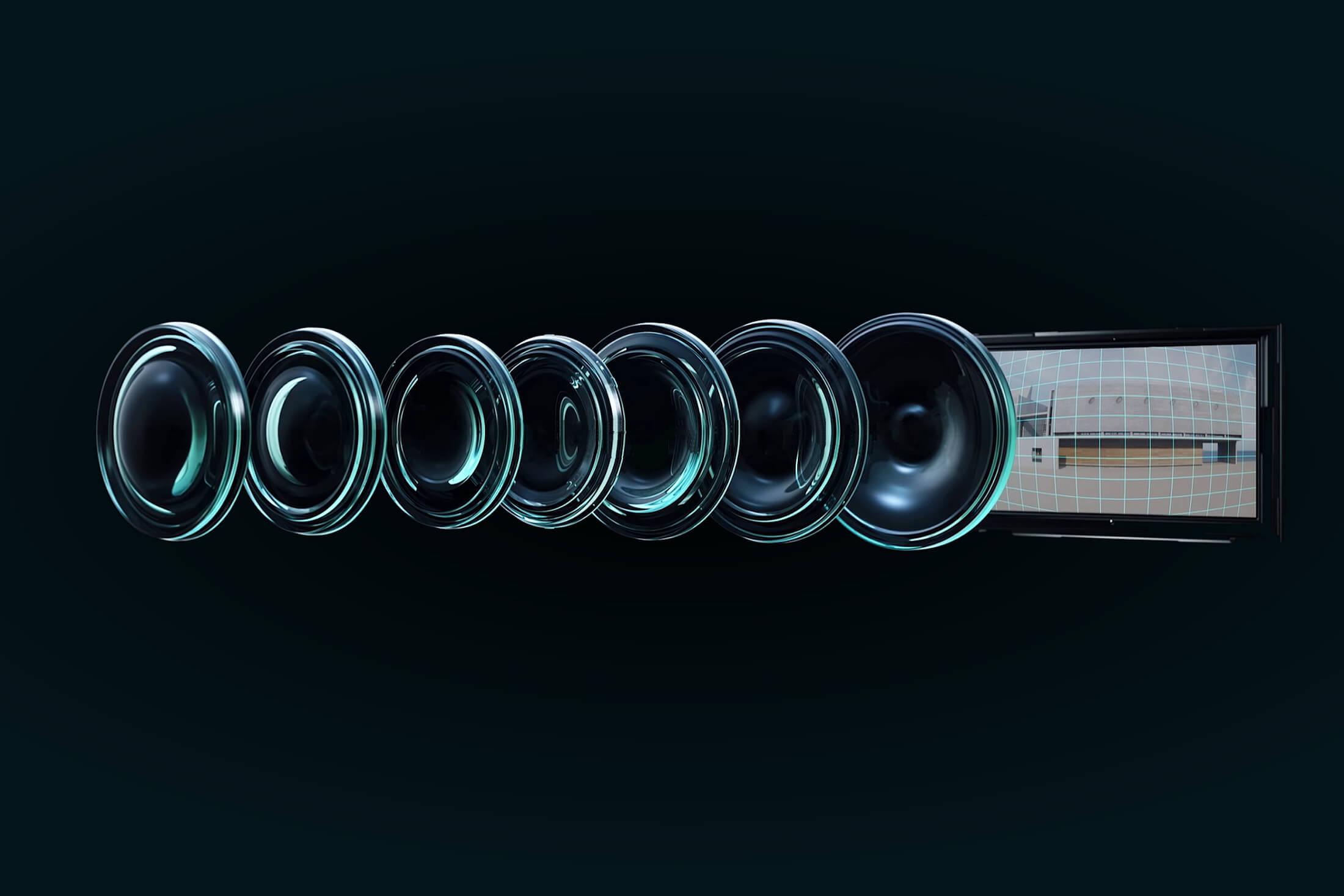 дизайн линз камеры смартфона