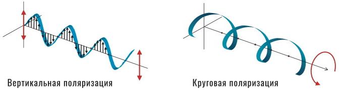 вертикальная против круговой поляризации