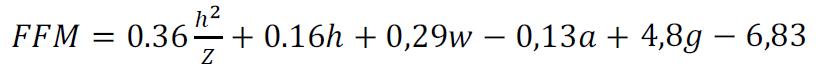 формула расчета безжировой массы тела
