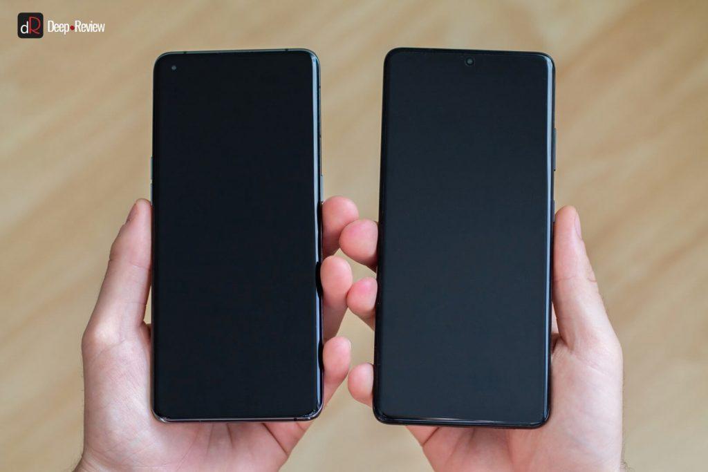 сравнение изгиба экранов s21 ultra и find x3 pro