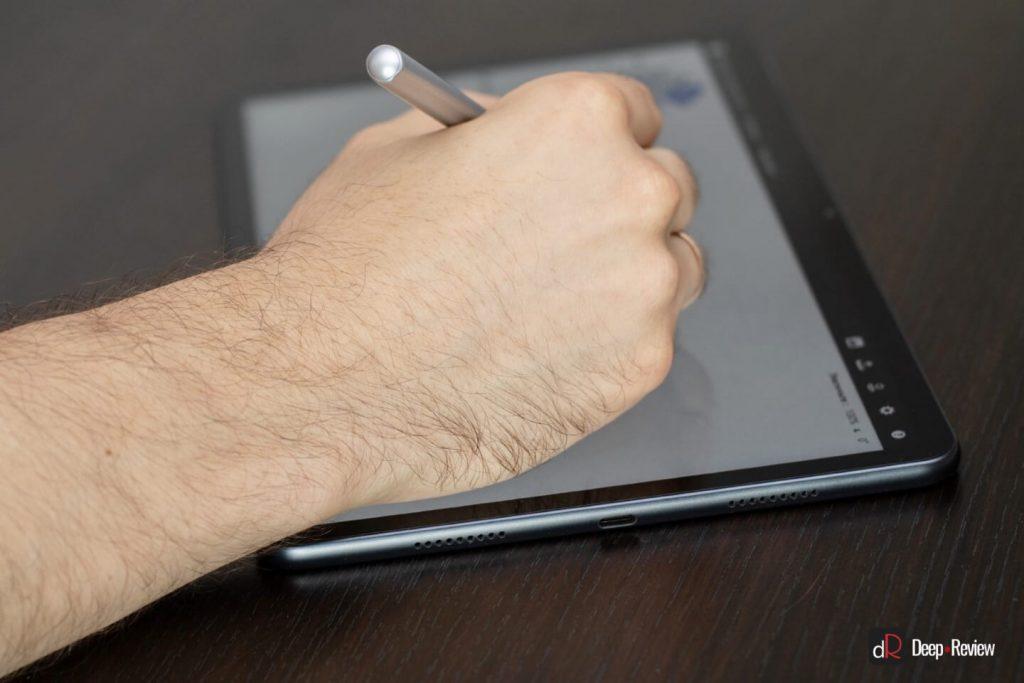 обработка касания рук и стилуса