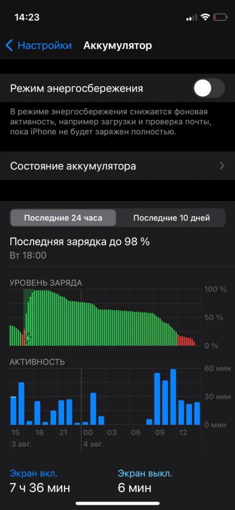 расход батареи на iphone 12 mini