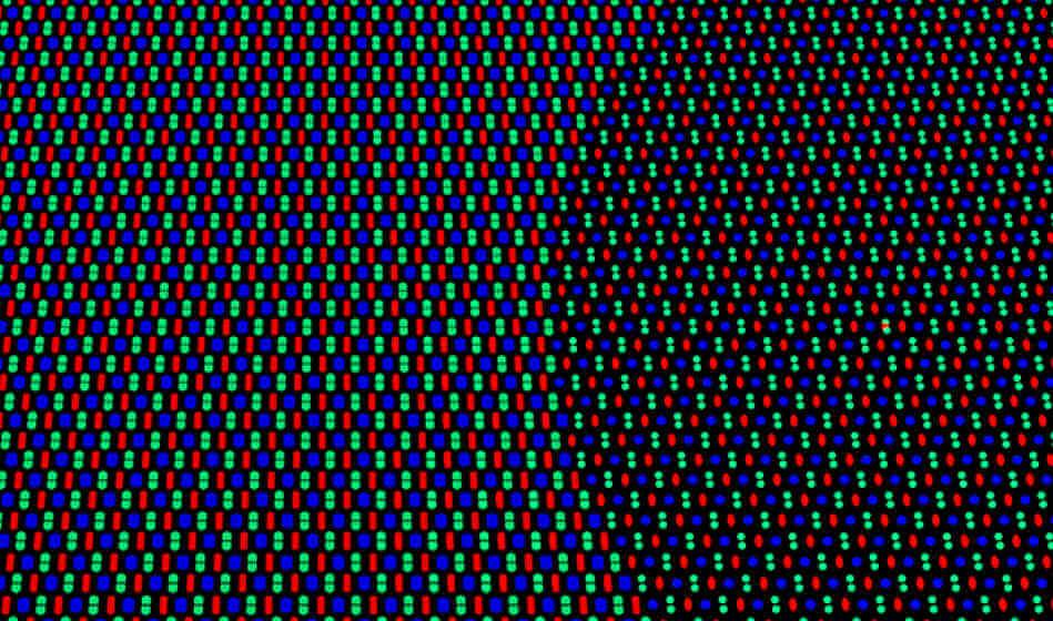 новое расположение пикселей в подэкранной камере