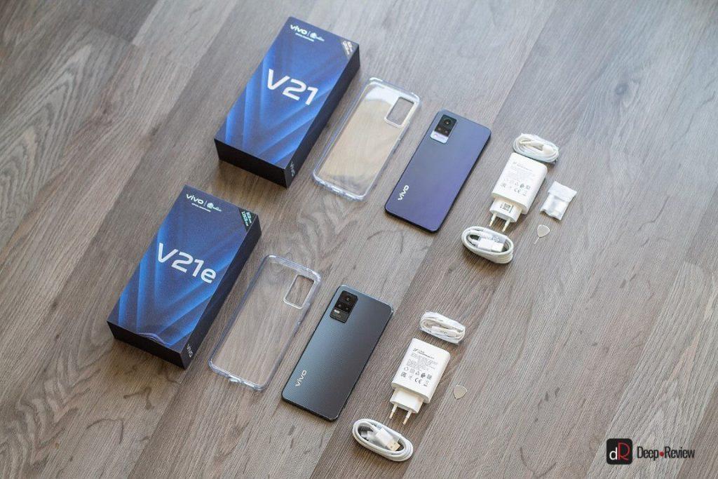 комплектации vivo v21 и v21e