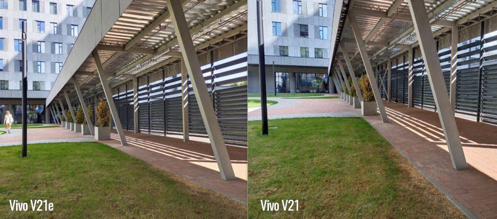 сравнение основных камер vivo v21 и v21e