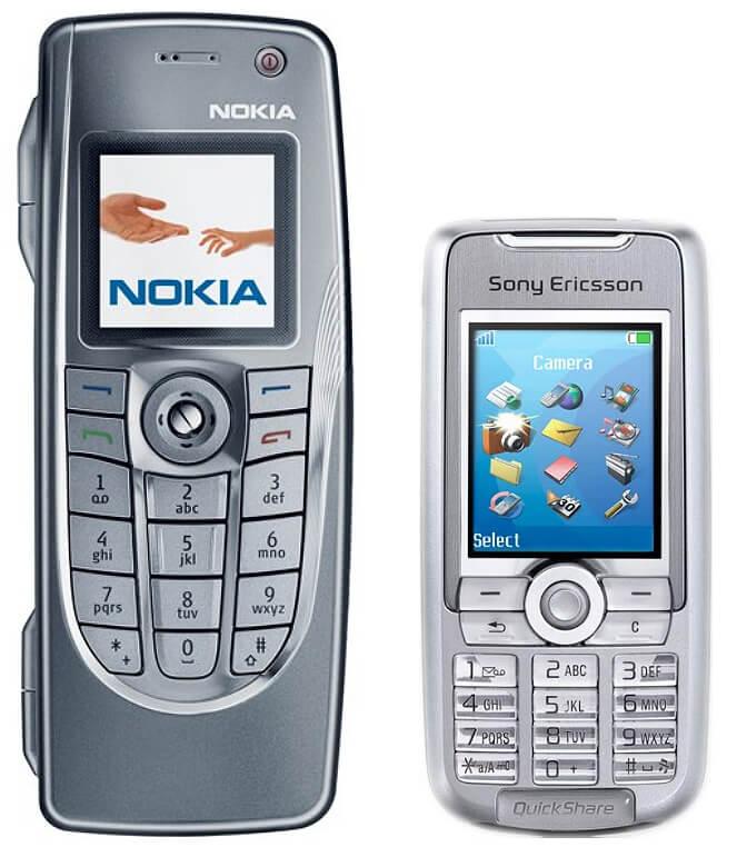 сравнение Nokia 9300 и Sony Ericsson K700
