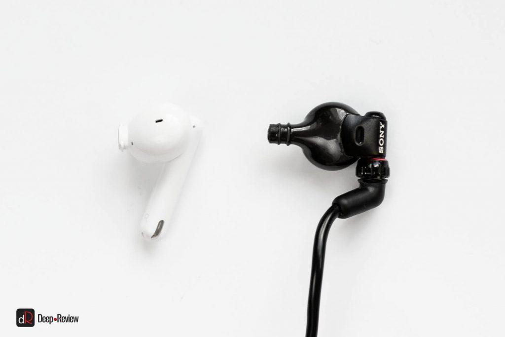 форма звуковода наушников enco free 2